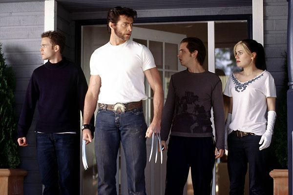 X-Men 2 : Fotograf Aaron Stanford, Anna Paquin, Hugh Jackman, Shawn Ashmore