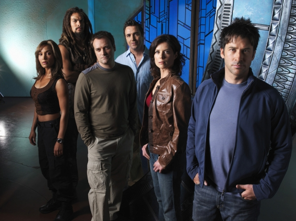 Stargate: Atlantis : Fotograf David Hewlett, Jason Momoa, Torri Higginson