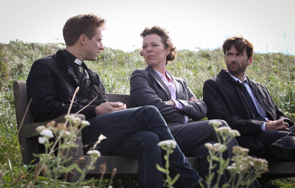 Fotograf Arthur Darvill, David Tennant, Olivia Colman