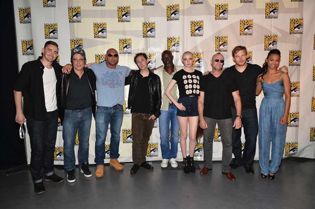 Galaksinin Koruyuculari : Vignette (magazine) Benicio Del Toro, Chris Pratt, Djimon Hounsou, James Gunn, Lee Pace