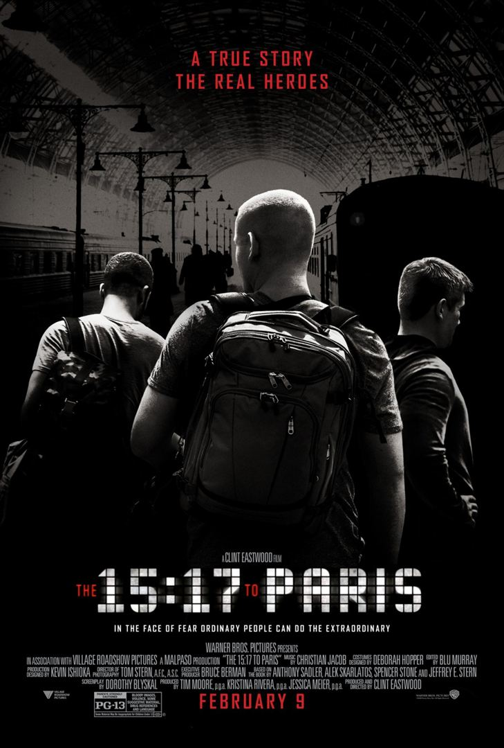 15:17 Paris Treni - The 15:17 to Paris (2018) DUAL m1080p Bluray Torrent indir