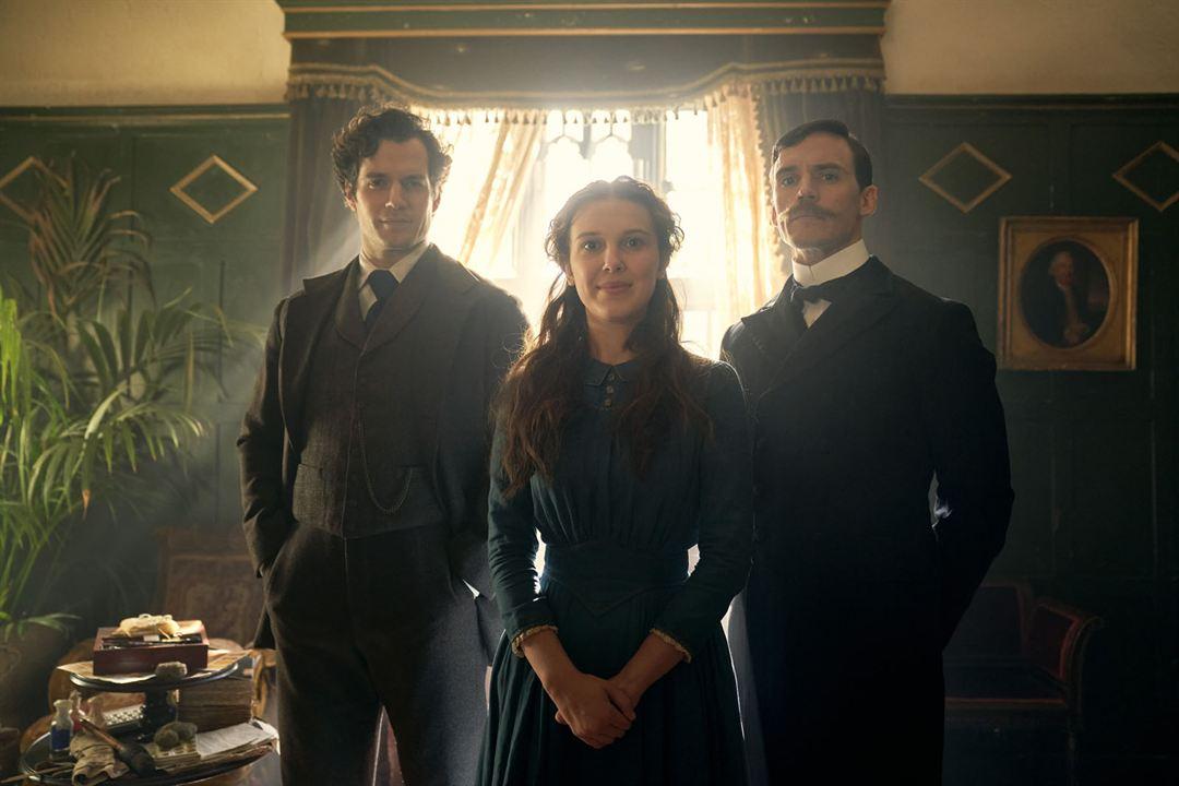 Enola Holmes : Fotograf Henry Cavill, Millie Bobby Brown, Sam Claflin